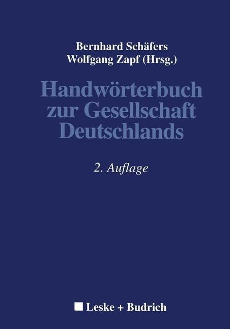 Handwörterbuch zur Gesellschaft Deutschlands als Buch
