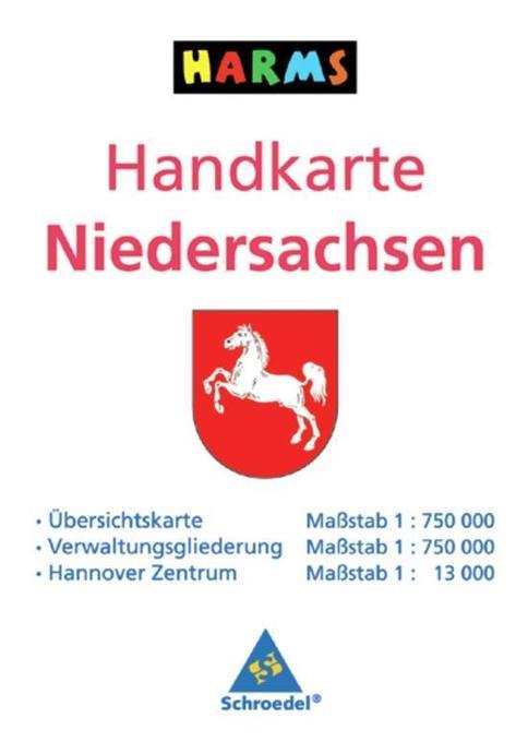 Handkarte Niedersachsen als Buch