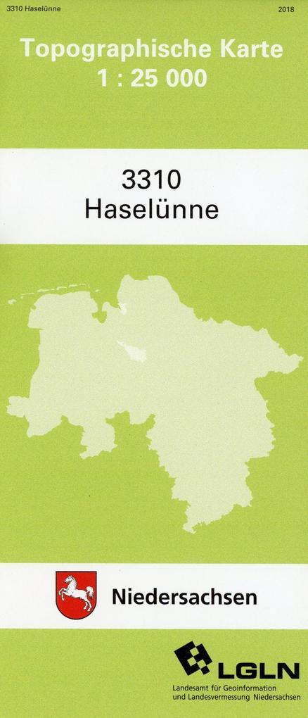 Haselünne 1 : 25 000 (TK25 3310/NA) als Buch