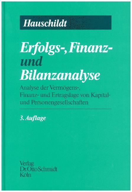 Erfolgs-, Finanz- und Bilanz-Analyse als Buch
