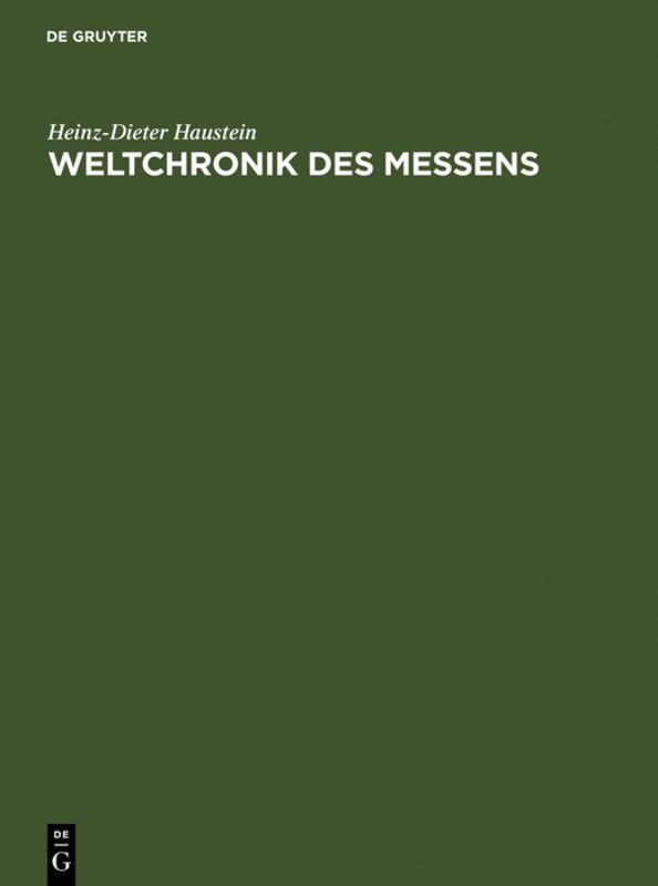 Weltchronik des Messens als Buch (gebunden)