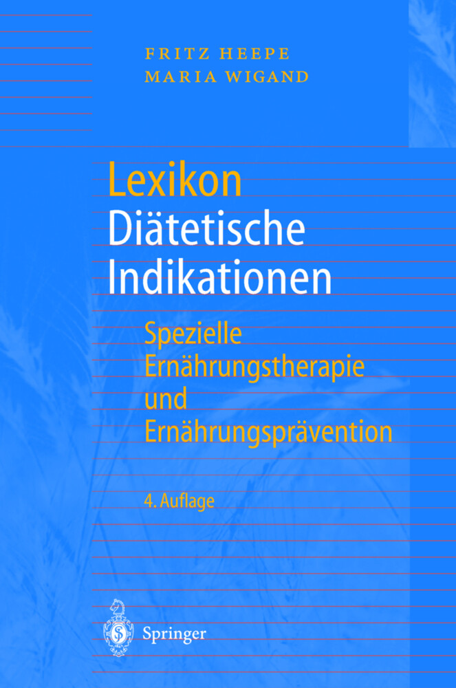 Lexikon Diätetische Indikationen als Buch
