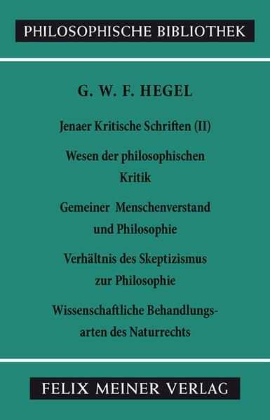 Jenaer Kritische Schriften 2 als Buch