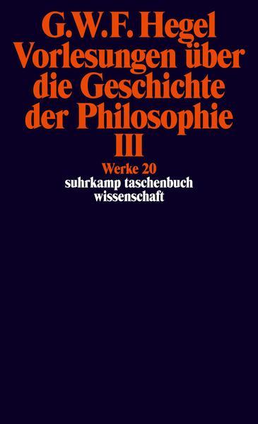 Vorlesungen über die Geschichte der Philosophie 3 als Taschenbuch