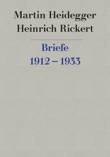 Briefwechsel 1912 - 1933 als Buch