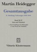 Gesamtausgabe Abt. 2 Vorlesungen Bd. 36/37. Sein und Wahrheit
