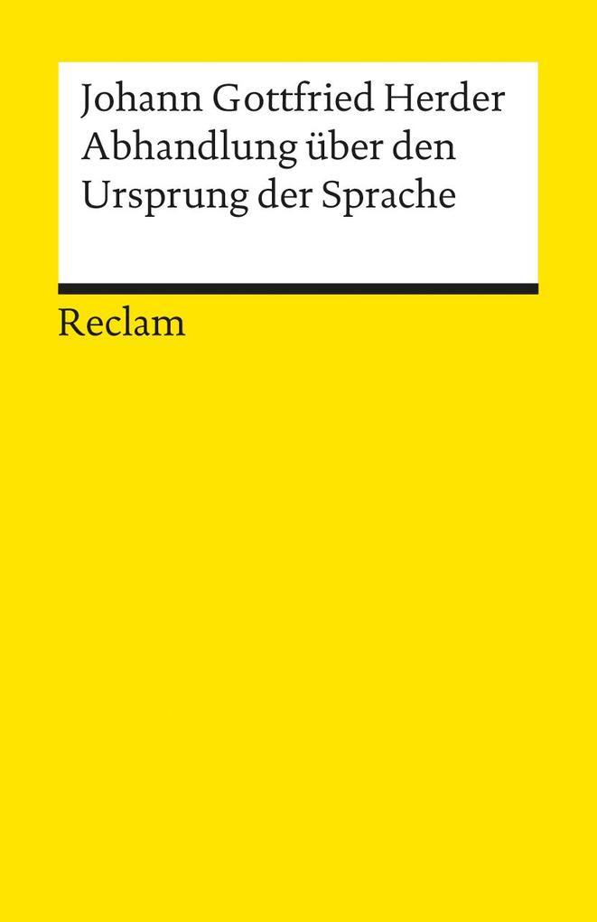 Abhandlungen über den Ursprung der Sprache als Taschenbuch