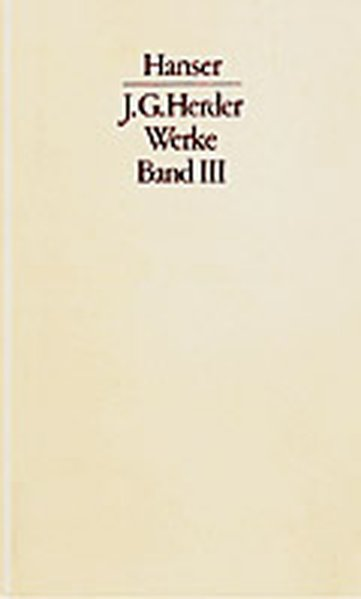 Werke Band III. Textband und Kommentarband als Buch