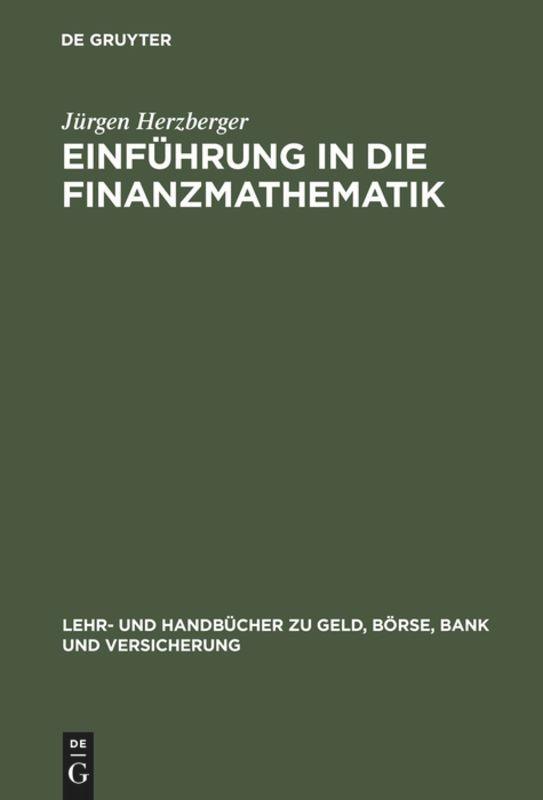 Einf'hrung in die Finanzmathematik als Buch
