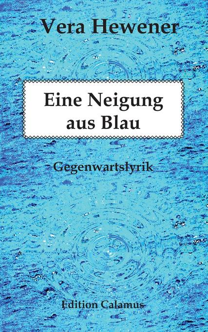 Eine Neigung aus Blau als Buch