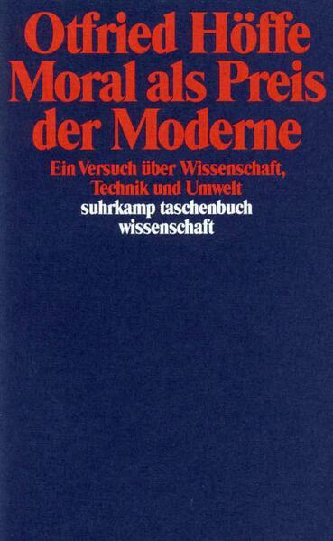 Moral als Preis der Moderne als Taschenbuch