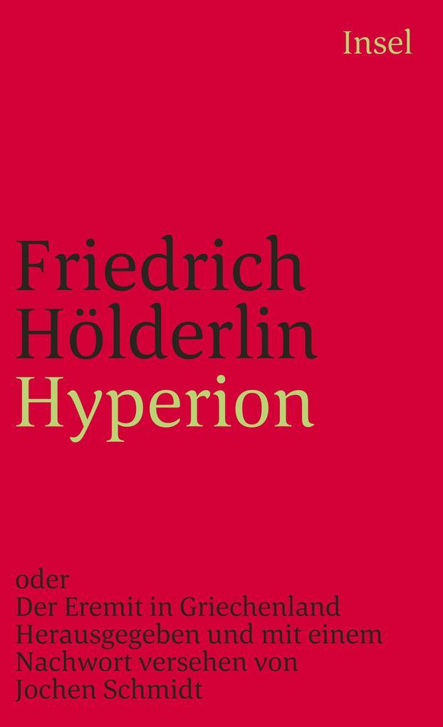 Hyperion oder Der Eremit von Griechenland als Taschenbuch