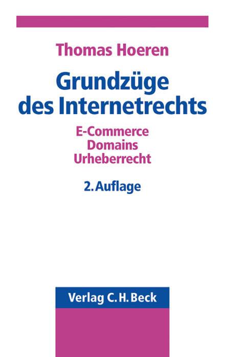 Grundzüge des Internetrechts als Buch
