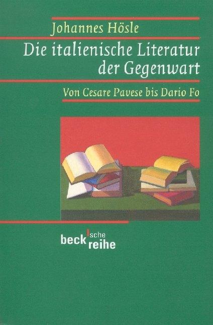 Die italienische Literatur der Gegenwart als Taschenbuch
