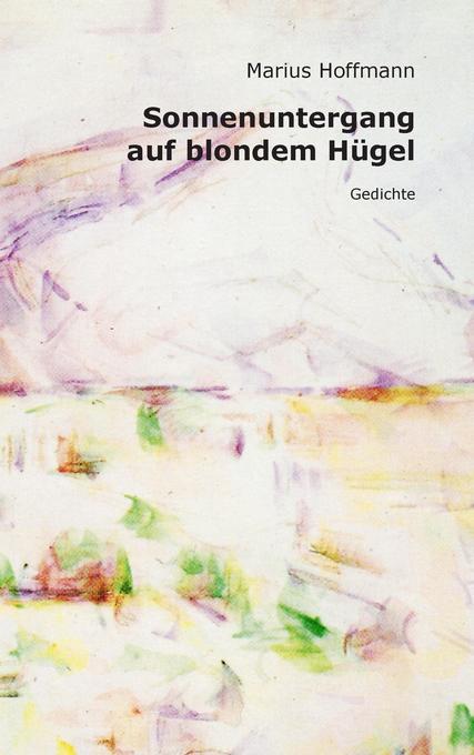Sonnenuntergang auf blondem Hügel als Buch