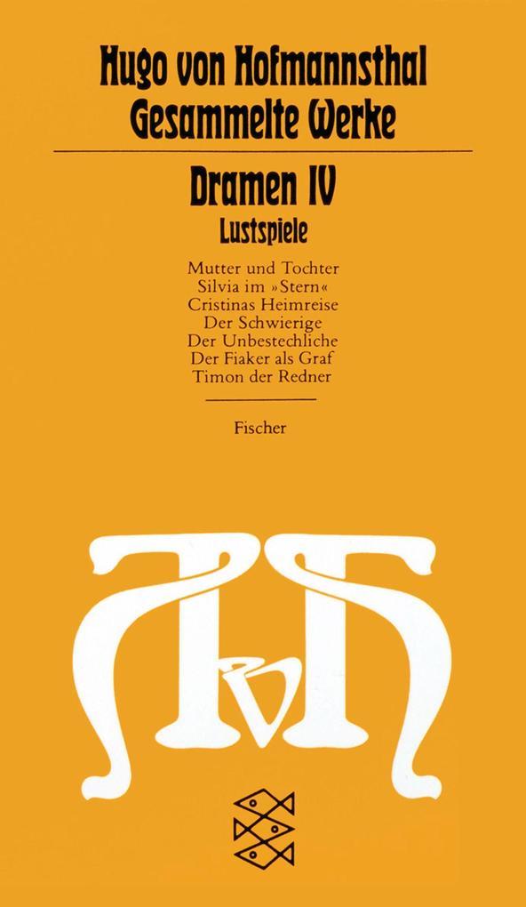 Dramen IV. Lustspiele als Taschenbuch