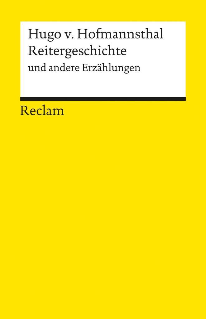 Reitergeschichte und andere Erzählungen als Taschenbuch