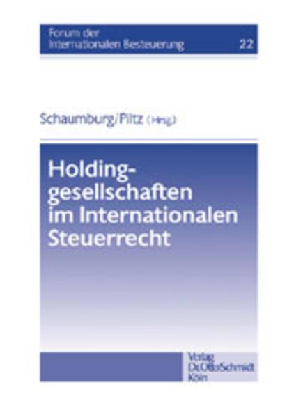 Holdinggesellschaften im Internationalen Steuerrecht als Buch