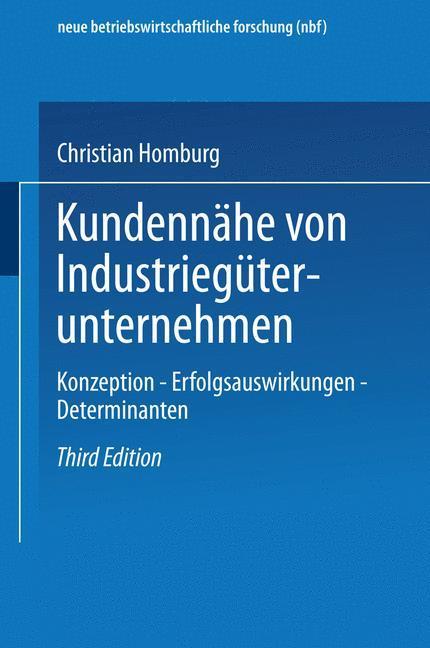 Kundennähe von Industriegüterunternehmen als Buch