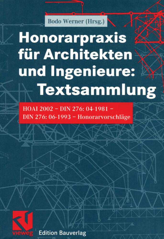 Honorarpraxis für Architekten und Ingenieure als Buch