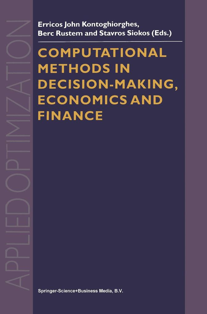 Computational Methods in Decision-Making, Econo...