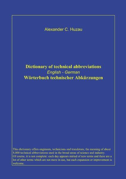 Wörterbuch technischer Abkürzungen als Buch