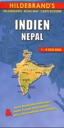 Indien, Nepal 1 : 4 200 000. Hildebrand's Urlaubskarte als Buch