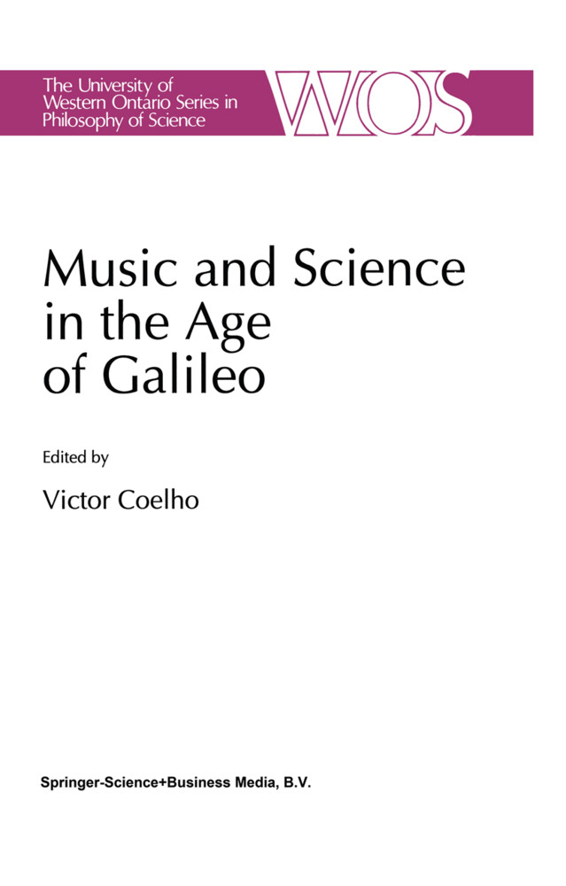 Music and Science in the Age of Galileo als Buc...