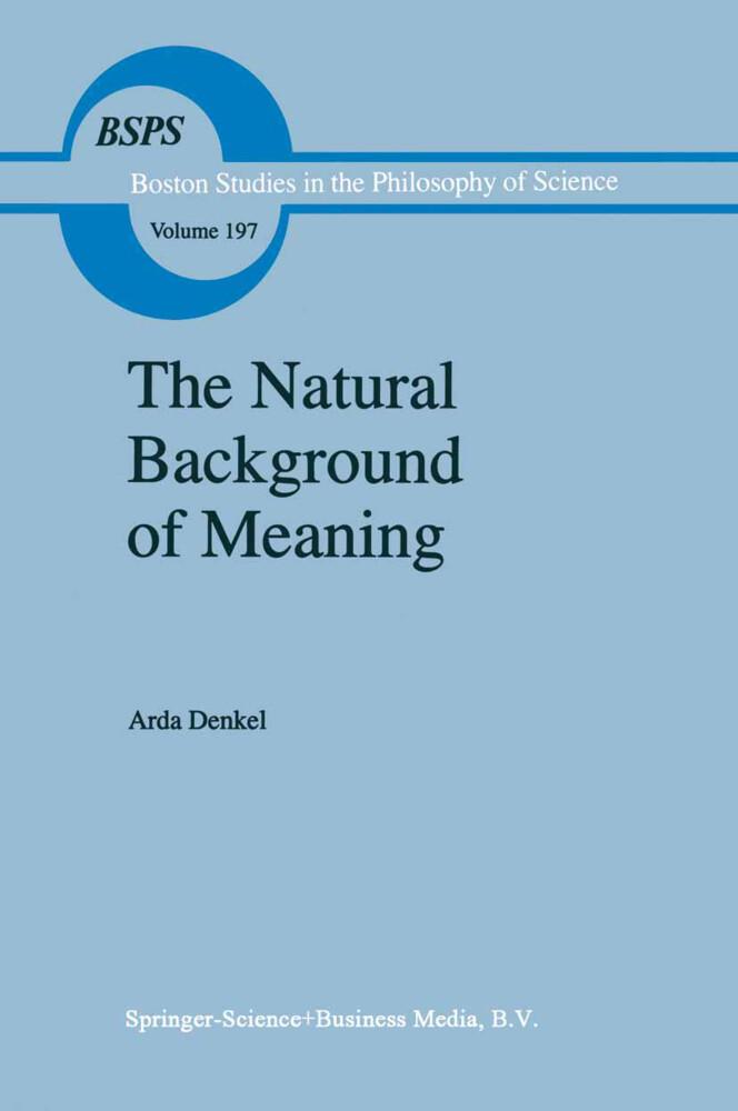The Natural Background of Meaning als Buch von A. Denkel - A. Denkel