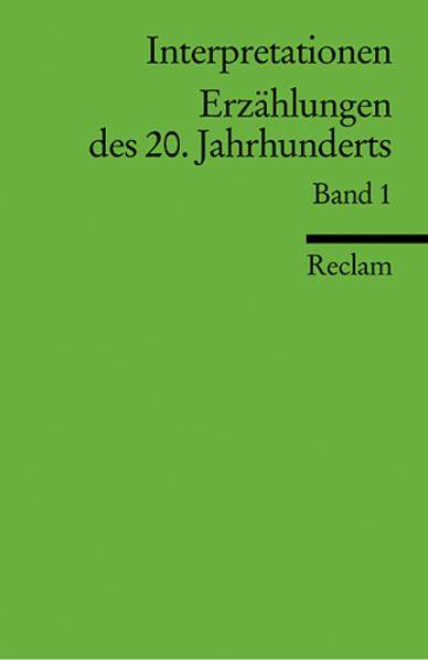 Erzählungen des 20. Jahrhunderts. Bd.1 als Taschenbuch