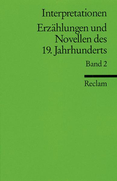 Interpretationen: Erzählungen und Novellen II des 19. Jahrhunderts als Taschenbuch