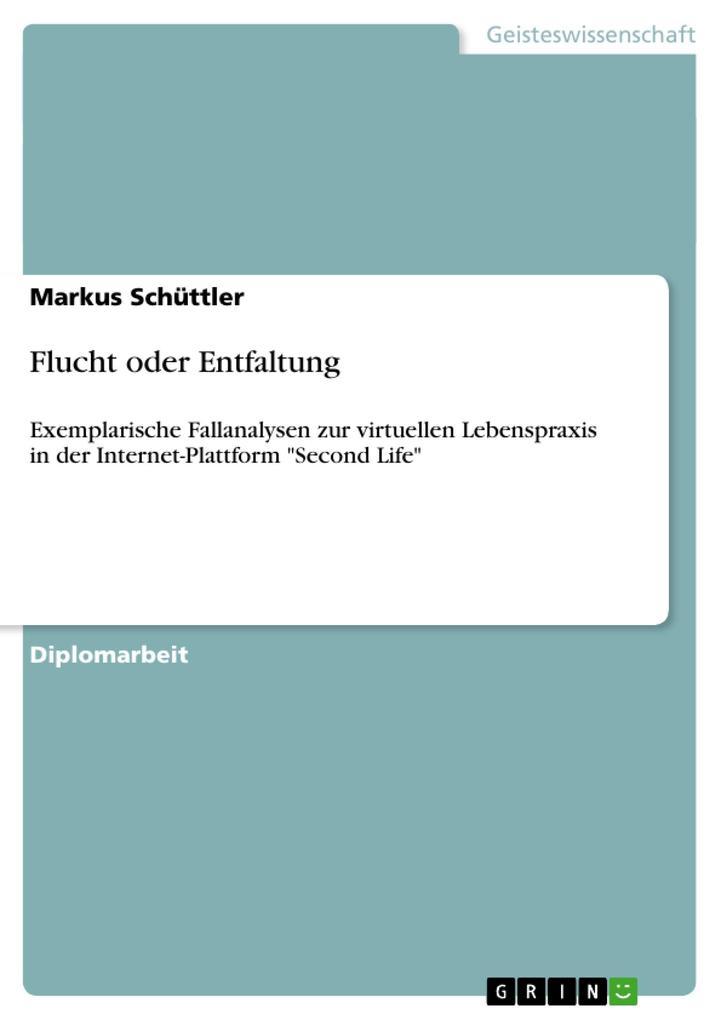 Flucht oder Entfaltung als Buch von Markus Schüttler - Markus Schüttler