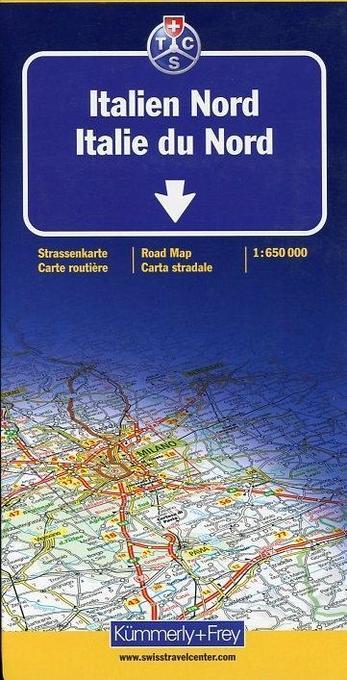 KuF Italien Nord 1 : 650 000 Straßenkarte als Buch