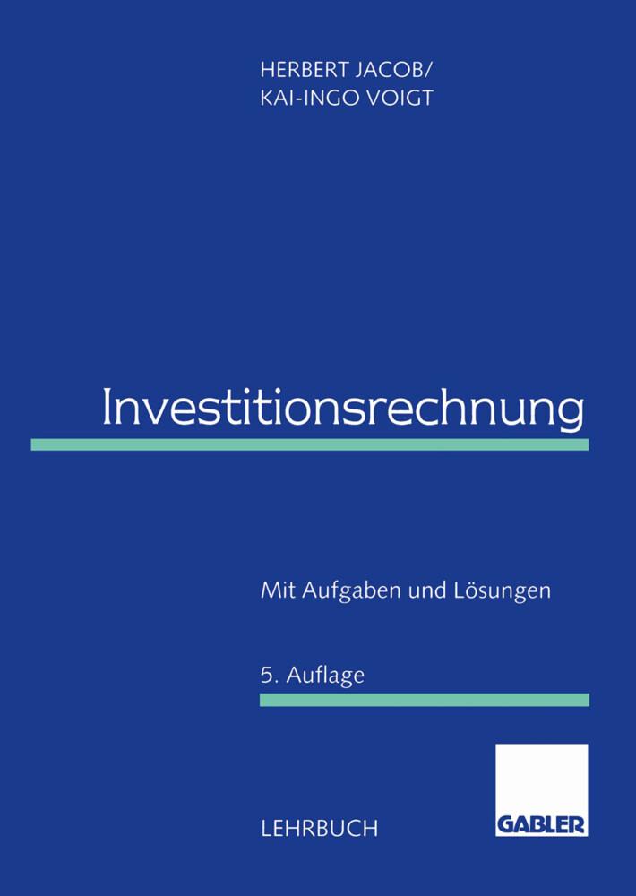 Investitionsrechnung als Buch