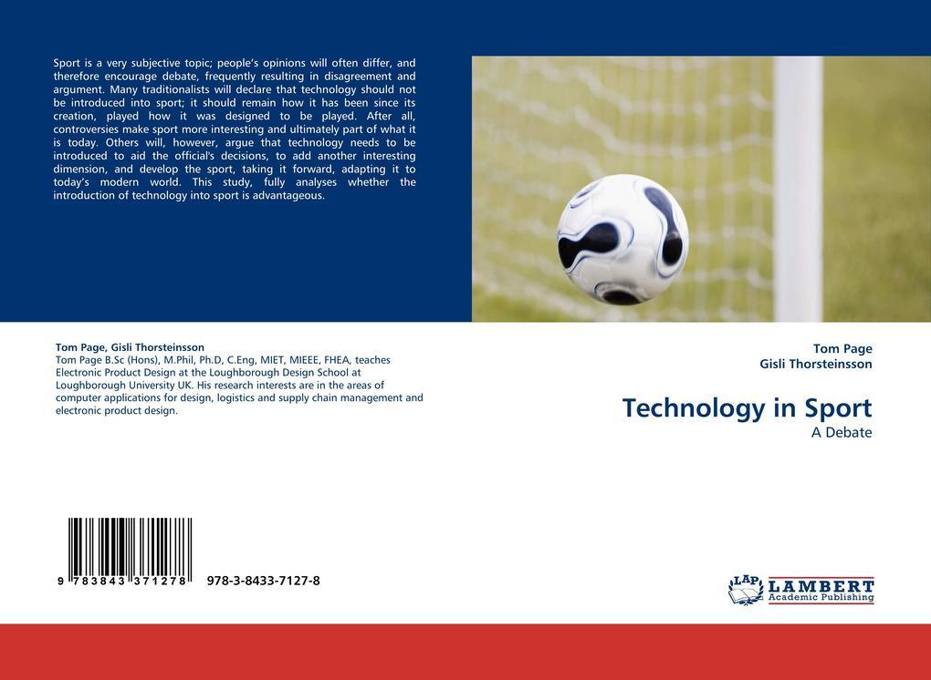 Technology in Sport als Buch von Tom Page, Gisl...