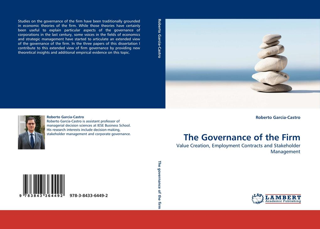 The Governance of the Firm als Buch von Roberto...