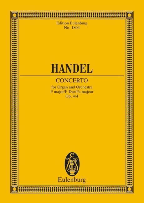 Orgel-Konzert Nr. 4 F-Dur als Buch von Georg Fr...