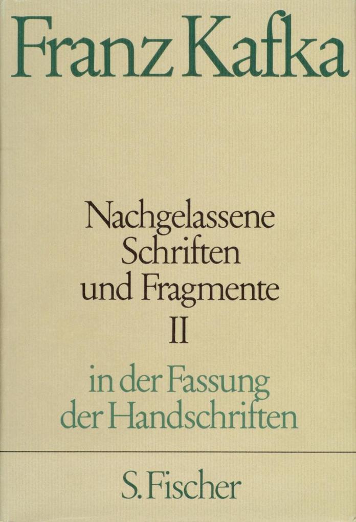 Nachgelassene Schriften und Fragmente II als Buch