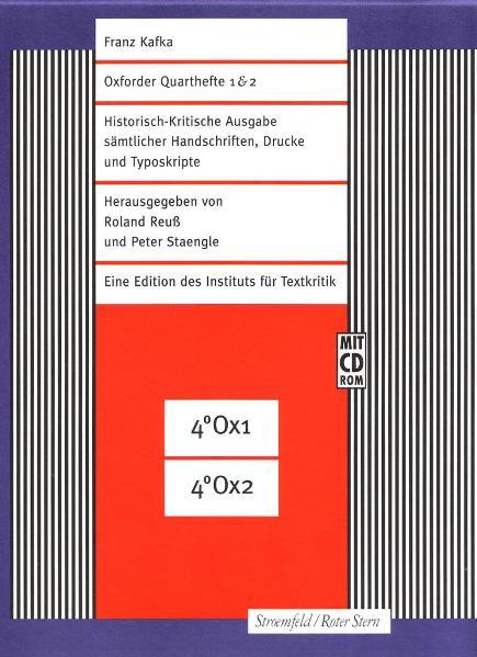 Historisch-Kritische Ausgabe sämtlicher Handschriften, Drucke und... / FKA Oxforder Quarthefte 1 & 2 als Buch