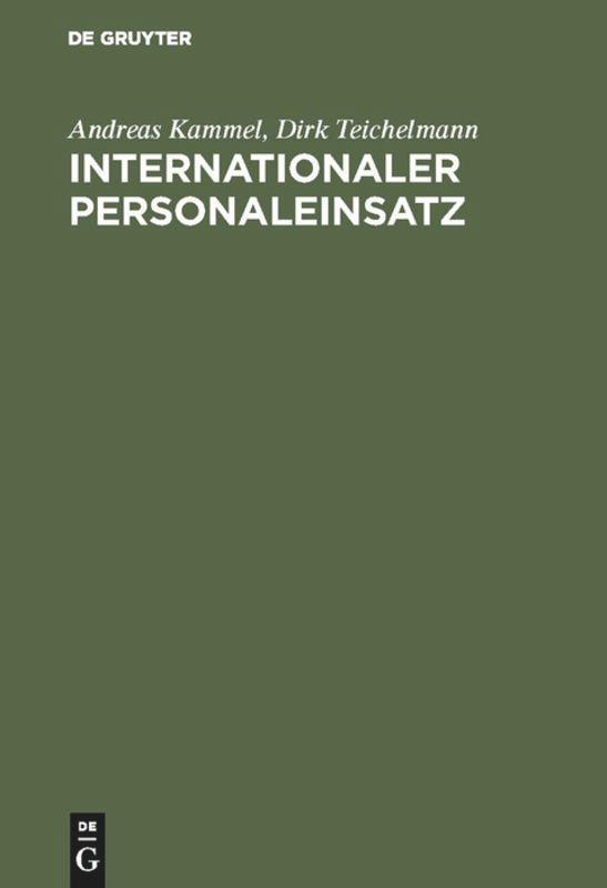 Internationaler Personaleinsatz als Buch (gebunden)