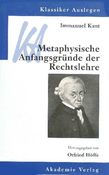 Metaphysische Anfangsgründe der Rechtslehre als Buch