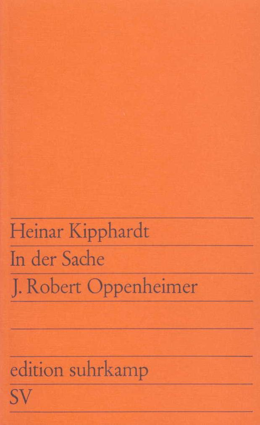 In der Sache J. Robert Oppenheimer als Taschenbuch