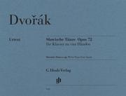 Slawische Tänze op. 72 für Klavier zu vier Händen