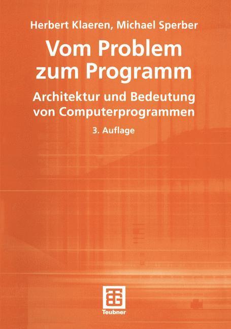 Von Problem zum Programm als Buch