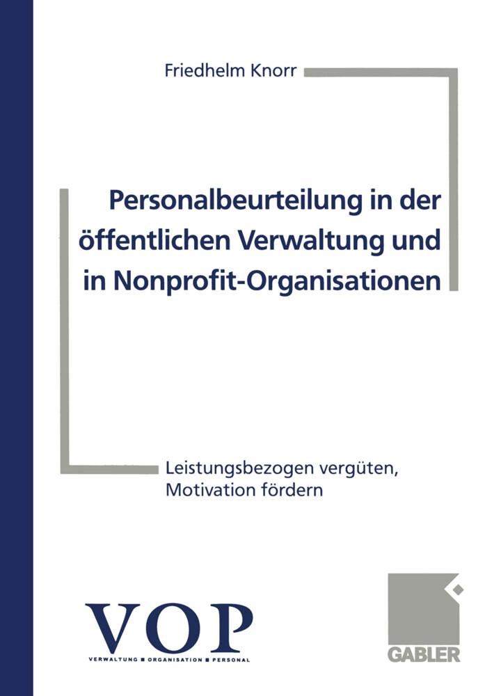 Personalbeurteilung in der öffentlichen Verwaltung und in Nonprofit-Organisationen als Buch