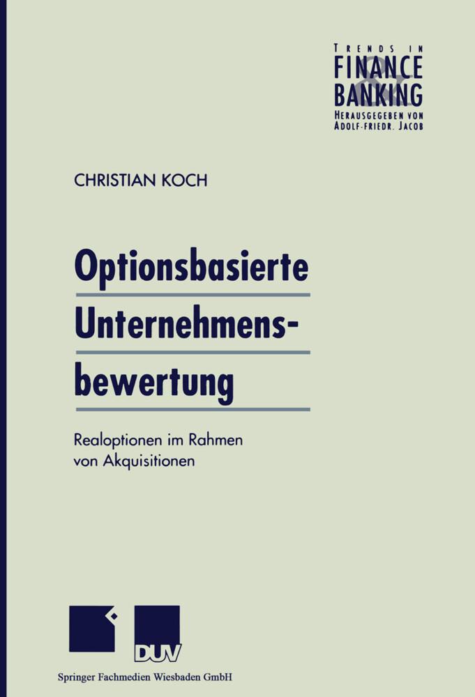 Optionsbasierte Unternehmensbewertung als Buch