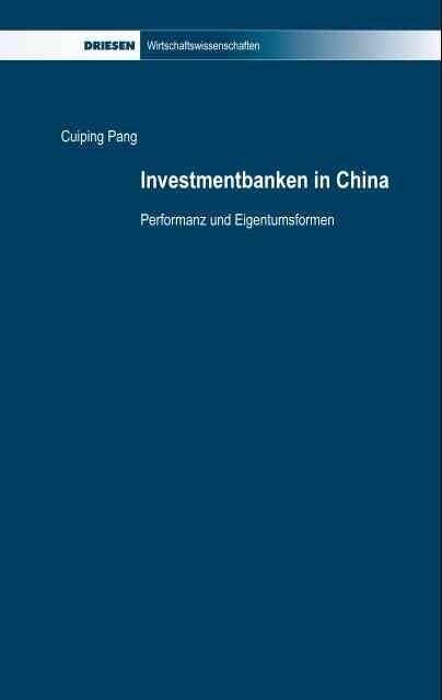 Investmentbanken in China als Buch von Cuiping ...