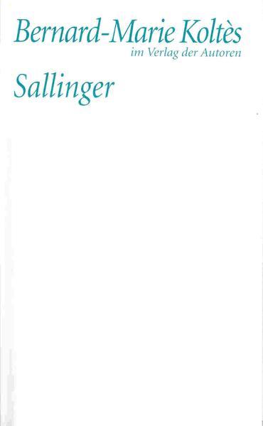 Sallinger als Buch
