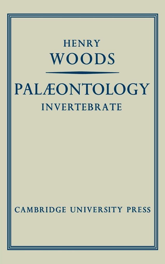 Palaeontology Invertebrate als Taschenbuch