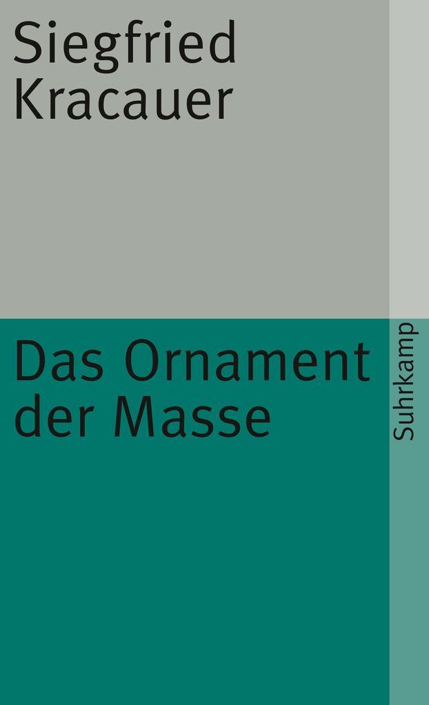 Das Ornament der Masse als Taschenbuch